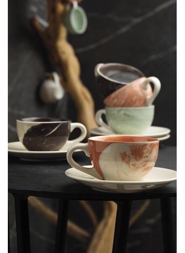 Kütahya Porselen Stella Double Kahve Takımı Mix Hypnose Renkli